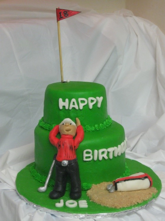 Golfer Birthday Cake