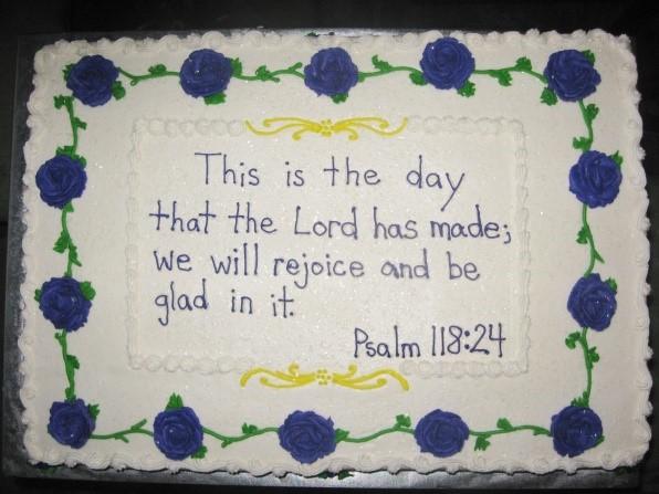 Scripture Sheet Cake